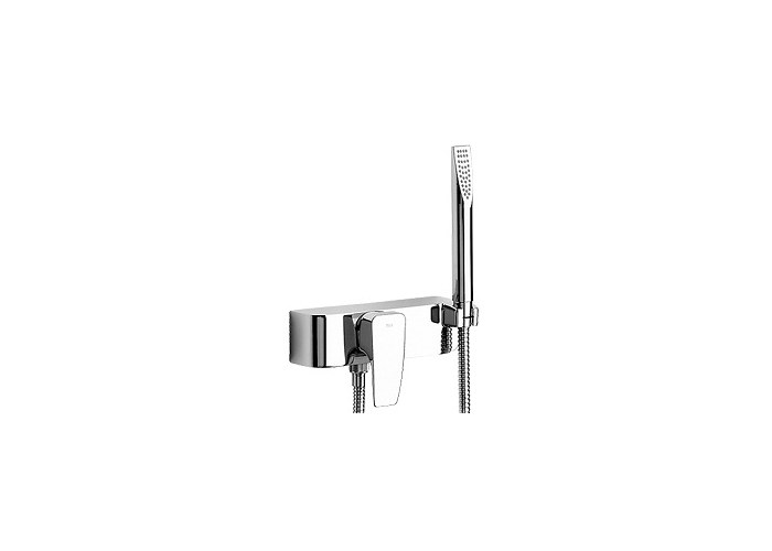 roca thesis shower mixer Roca thesis bath shower mixer, roca thesis wall mounted bath shower mixer tap kit - 5a0150c00 d50010022 wall mounted bath shower mixer tap includes easy fix kit which allows bar shower valve to be installed to pipework chrome finished width - 210mm spout projection - 181mm includes 17m flexible shower hose, handset and swivel wall.