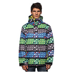 Куртка Quiksilver Last Mi Ion Print Insulated Jkt 2 Blue/Green