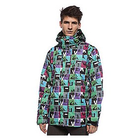 Куртка Quiksilver Last Mission Print Insulated Jkt 1 Black/Green/Purple